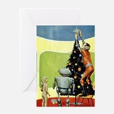 Christmas science-fiction artwork Greeting Card