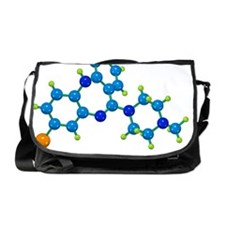 Clozapine antipsychotic drug molecul Messenger Bag