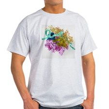 Bacterial ribosome and protein synth T-Shirt