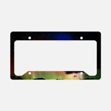 Aurora Borealis display with  License Plate Holder