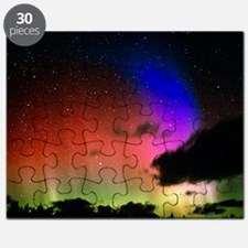 Aurora Borealis display with clouds Puzzle