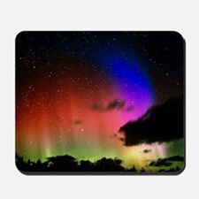 Aurora Borealis display with clouds Mousepad
