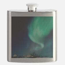 Aurora Borealis and satellite station in Flask