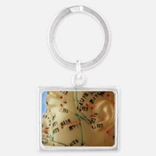 Chinese acupuncture model Landscape Keychain
