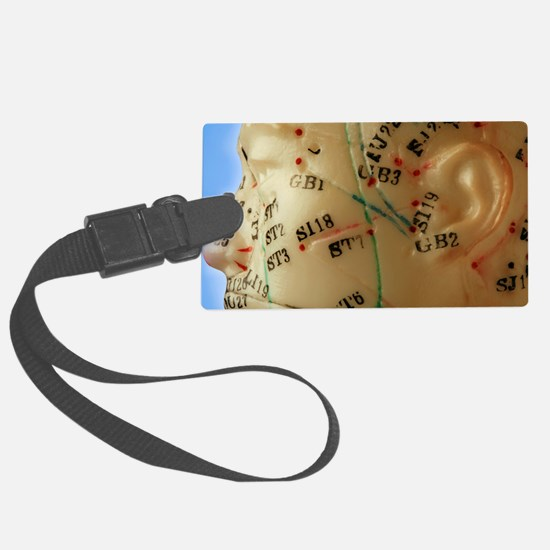 Chinese acupuncture model Luggage Tag