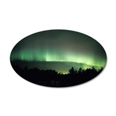 Aurora borealis 35x21 Oval Wall Decal