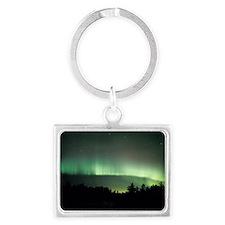 Aurora borealis Landscape Keychain