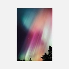 Aurora borealis Rectangle Magnet
