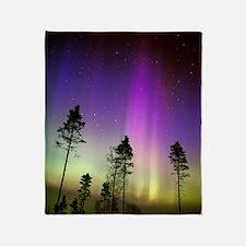 Aurora borealis Throw Blanket