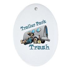 Trailer Park Trash Design Oval Ornament