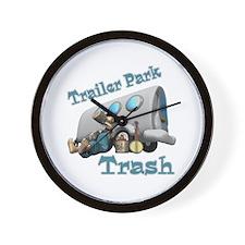 Trailer Park Trash Design Wall Clock