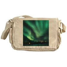 Aurora borealis Messenger Bag