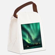 Aurora borealis Canvas Lunch Bag