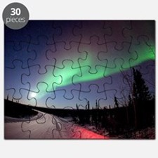 Aurora borealis in Alaska Puzzle