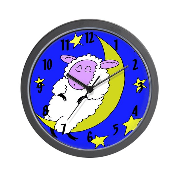Sleeping Counting Sheep Wall Clock By Beingbizarre