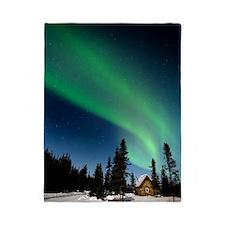 Aurora borealis in Alaska Twin Duvet