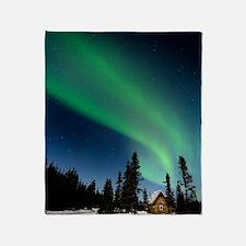 Aurora borealis in Alaska Throw Blanket