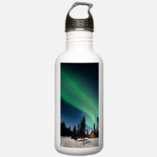 Aurora borealis in Ala Water Bottle