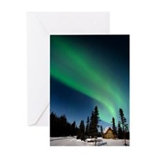 Aurora borealis in Alaska Greeting Card