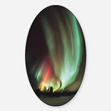 Aurora borealis Sticker (Oval)