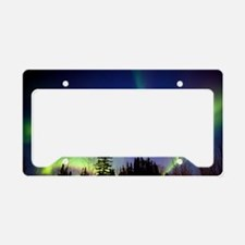 Aurora borealis in Alaska License Plate Holder