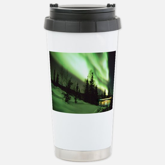 Aurora borealis Stainless Steel Travel Mug