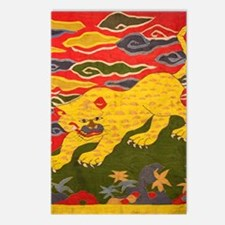 Chinese Tibetan Silk tape Postcards (Package of 8)