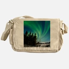 Aurora borealis in Alaska Messenger Bag
