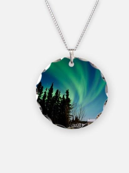 Aurora borealis in Alaska Necklace