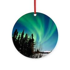 Aurora borealis in Alaska Round Ornament