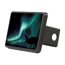 Aurora borealis and caribo Hitch Cover