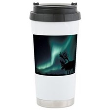 Aurora borealis and caribou Travel Mug