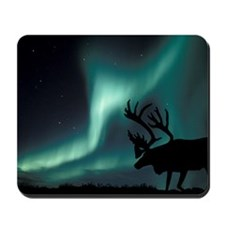 Aurora borealis and caribou Mousepad