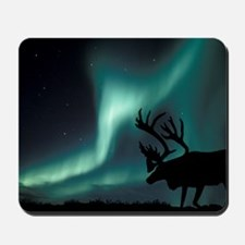 Aurora borealis and caribou Mousepad