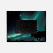 Aurora borealis and caribou Picture Frame