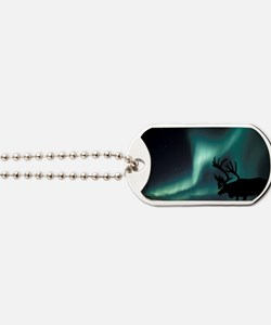 Aurora borealis and caribou Dog Tags