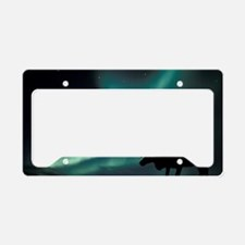 Aurora borealis and caribou License Plate Holder