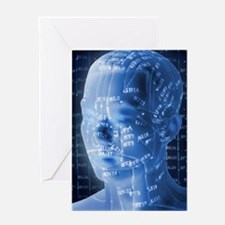 Chinese acupuncture model Greeting Card