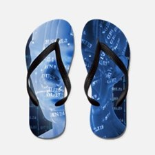 Chinese acupuncture model Flip Flops
