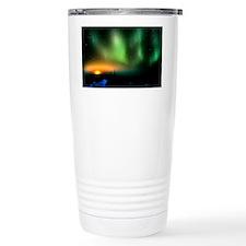 Aurora borealis display with se Thermos Mug