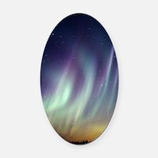 Aurora borealis Oval Car Magnet