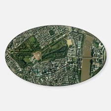 Central London, aerial view Sticker (Oval)