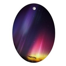 Aurora borealis Oval Ornament