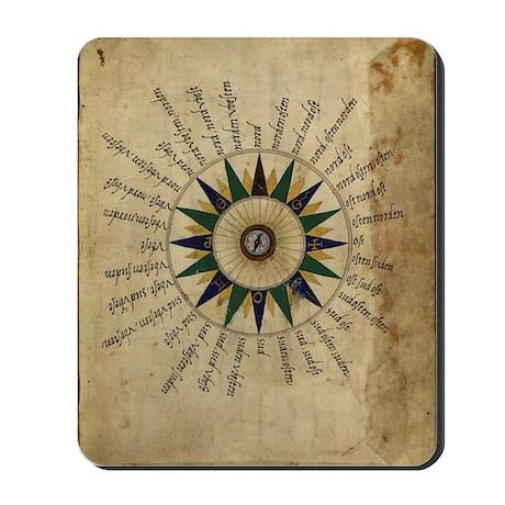 Atlas compass, 16th century Mousepad