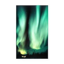 Aurora borealis Rectangle Car Magnet