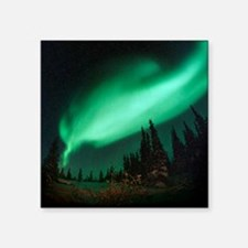 "Aurora borealis Square Sticker 3"" x 3"""
