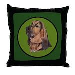 Exquisite Bloodhound Throw Pillow
