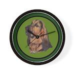 Exquisite Bloodhound Wall Clock