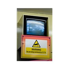 CCTV monitor on Walton Pier, Esse Rectangle Magnet