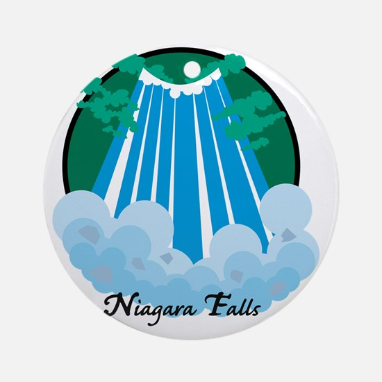 NiagardaFalls1Wh Round Ornament